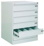 99551751 Szafka kartotekowa 0,8-1,5mm, 6 szuflad (wymiary: 1000x775x630 mm)