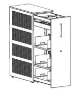 99551916 Szafka przybiurkowa, 3 półki, front metalowy (wymiary: 1320x438x800 mm)
