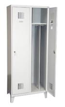 99551972 Szafka ubraniowa 0,8mm na nóżkach, 2 drzwi, zamek cylindryczny zamykany w 1 punkcie (wymiary: 1940x800x500 mm)