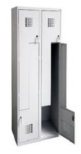 99552002 Szafka ubraniowa 0,8mm, 4 drzwi w kształcie L (wymiary: 1800x800x500 mm)