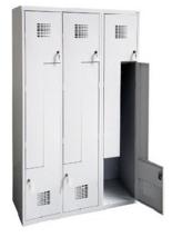 99552004 Szafka ubraniowa 0,8mm, 6 drzwi w kształcie L (wymiary: 1800x1200x500 mm)