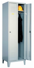 99552124 Szafka ubraniowa 0,6mm na nóżkach, zamek na kłódkę, 2 drzwi (wymiary: 1940x600x490 mm)