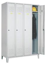 99552132 Szafka ubraniowa 0,6mm na nóżkach, zamek na kłódkę, 4 drzwi (wymiary: 1940x1200x490 mm)