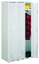 99552157 Szafka ubraniowa 0,8mm, zamek ryglujący drzwi w 3 punktach, 3 drzwi (wymiary: 1800x900x490 mm)