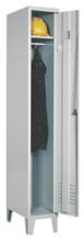 99552166 Szafka ubraniowa 0,8mm na nóżkach, zamek na kłódkę, 1 drzwi (wymiary: 1940x400x490 mm)
