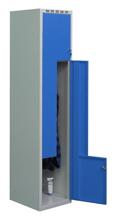 99552220 Szafka ubraniowa 0,6-0,8mm, 2 drzwi w kształcie L (wymiary: 1800x400x490 mm)