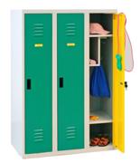 99552320 Szafka dla przedszkolaków, 3 drzwi, wersja standard (wymiary: 1350x900x500 mm)