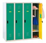 99552321 Szafka dla przedszkolaków, 4 drzwi, wersja standard (wymiary: 1350x1200x500 mm)