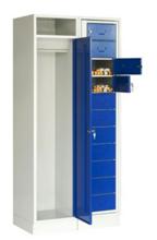 99552379 Szafa do przechowywania czystej i brudnej odzieży, 1 drzwi, 11 szuflad (wymiary: 1900x840x500 mm)
