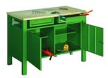 99552442 Stół warsztatowy, 2 drzwi, 2 szuflady (wymiary: 850x1200x600 mm)
