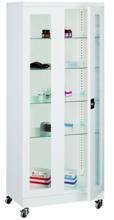 99552551 Szafa lekarska na kółkach, 4 półki, 2 drzwi (wymiary: 1890x800x435 mm)
