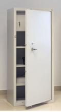 99552600 Szafa - wzmocniona, 3 półki, 1 drzwi, 1 skarbczyk (wymiary: 1800x700x500 mm)