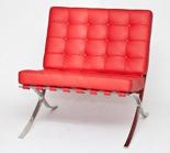 99850953 Fotel BA1 inspirowany Barcelona (kolor: czerwony)