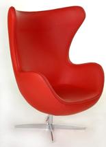 99851041 Fotel Jajo inspirowany Egg skóra (kolor: czerwony)