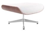 99851074 Podnóżek Vip inspirowany Lounge Chair (kolor: biały/Walnut)
