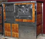 DOSTAWA GRATIS! 00350314 Kuchnia na węgiel z piekarnikiem 8kW z płaszczem wodnym (wylot spalin: tył)
