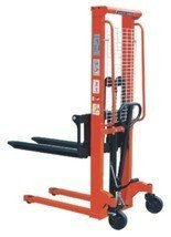 DOSTAWA GRATIS! 00543620 Wózek podnośnikowy ręczny z widłami regulowanymi oraz dodatkowa pompą nożną (udźwig: 1500 kg, min./max. wysokość wideł: 85/1600 mm)