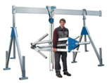 DOSTAWA GRATIS! 03055651 Wciągarka bramowa aluminiowa z wciągnikiem (szerokość całkowita regulowana: 2100mm, wysokość całkowita regulowana: 2110–2510mm, udźwig suwnicy/wciągnika: 1500/1500kg kg)