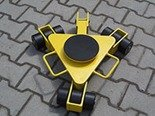 DOSTAWA GRATIS! 12258869 Wózek rotacyjny z płytą obrotową, rolki: 9x nylon (nośność: 3 T)