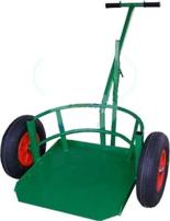 DOSTAWA GRATIS! 13340543 Wózek dwukołowy ręczny do przewozu dużych donic (nośność: 200 kg)