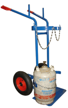 DOSTAWA GRATIS! 13340553 Wózek dwukołowy spawalniczy do przewozu butli gazowych (nośność: 300 kg)