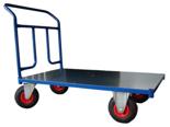 DOSTAWA GRATIS! 13340581 Wózek platformowy ręczny jednoburtowy 1BKB (koła: pneumatyczne 225 mm, nośność: 250 kg, wymiary: 1000x600 mm)
