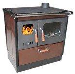 DOSTAWA GRATIS! 27765714 Kuchnia wolnostojąca na drewno 8kW (kolor: ciemny brązowy)