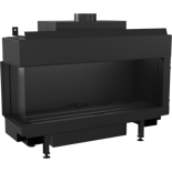 DOSTAWA GRATIS! 30054027 Wkład kominkowy na gaz 4,3-9,2kW LEO 100 na gaz techniczny LPG (lewa boczna szyba)