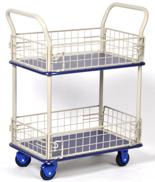 DOSTAWA GRATIS! 39955539 Wózek skrzynkowy, 2 półki (wymiary: 740x480x1230mm)