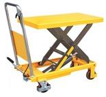 DOSTAWA GRATIS! 85068251 Stół podnośny nożycowy (udźwig: 300 kg, wysokość podnoszenia: 900 mm, wymiary platformy: 855x500x50  mm)