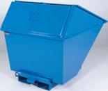 DOSTAWA GRATIS! 99724686 Pojemnik wychylny z pokrywą GermanTech TL 1300 (pojemność: 1030 L)