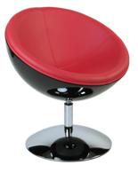 DOSTAWA GRATIS! 99850991 Fotel obrotowy Mercury (kolor: czarny/czerwone)