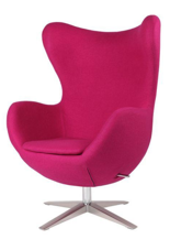 DOSTAWA GRATIS! 99851006 Fotel Jajo inspirowany Egg szeroki wełna (kolor: różowy)