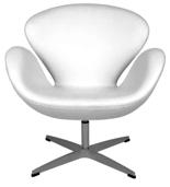 DOSTAWA GRATIS! 99851030 Fotel Cup inspirowany projektem Swan kaszmir (kolor: biały)