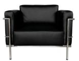 DOSTAWA GRATIS! 99851036 Fotel Soft Grand Comfort inspirowany projektem LC3 Grand Com (kolor: czarny)