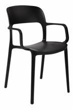DOSTAWA GRATIS! 99854321 Krzesło z podłokietnikami Flexi (kolor: czarny)