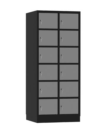 00141924 Szafa skrytkowa, 2 segmenty, 12 skrytek (wymiary: 1950x810x480 mm)