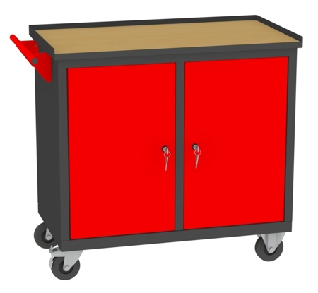 00142041 Wózek narzędziowy, 2 drzwi (wymiary: 860x950x505 mm)