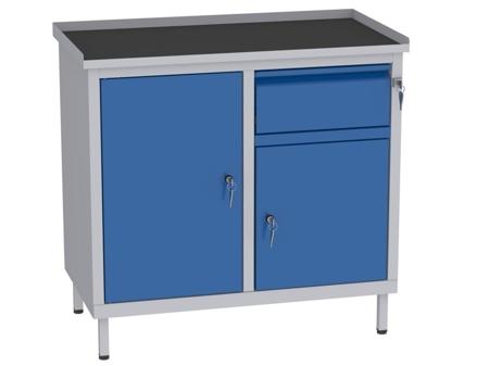 00142055 Szafka warsztatowa, 2 drzwi, 1 szuflada (wymiary: 850x900x505 mm)