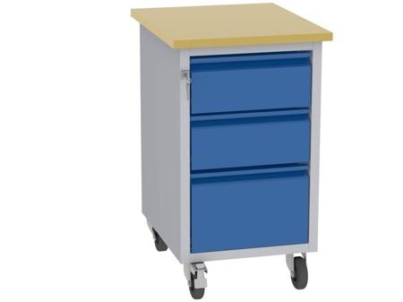 00142078 Wózek platformowy, 3 szuflady (wymiary: 830x505x605 mm)