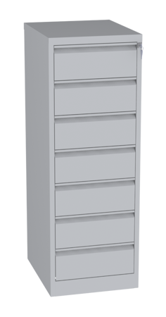 00150469 Szafa kartotekowa na teczki A5 poziome, 2 rzędy, 7 szuflad (wymiary: 1470x525x630 mm)