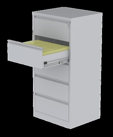 00150477 Szafa kartotekowa na teczki A5 pionowe, 4 rzędy, 5 szuflad (wymiary: 1570x745x630 mm)