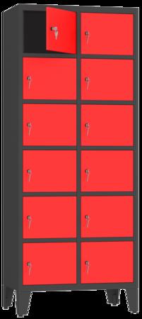 00150509 Szafa skrytkowa na nogach, 2 segmenty, 12 skrytek (wymiary: 2010x810x480 mm)