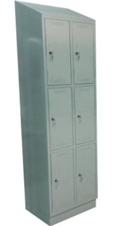 00150532 Szafa skrytkowa z daszkiem, 2 segmenty, 6 skrytek (wymiary: 2135x610x480 mm)
