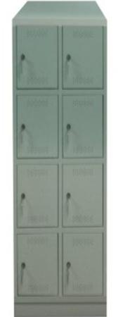 00150533 Szafa skrytkowa z daszkiem, 2 segmenty, 8 skrytek (wymiary: 2135x610x480 mm)