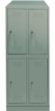 00150566 Szafa skrytkowa z daszkiem, 2 segmenty, 4 skrytki (wymiary: 2135x810x480 mm)