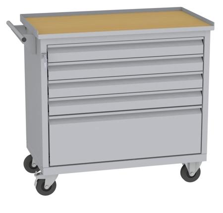 00150654 Wózek narzędziowy, 5 szuflad (wymiary: 860x950x505 mm)