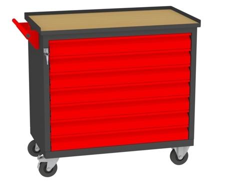 00150656 Wózek narzędziowy, 7 szuflad (wymiary: 860x950x505 mm)