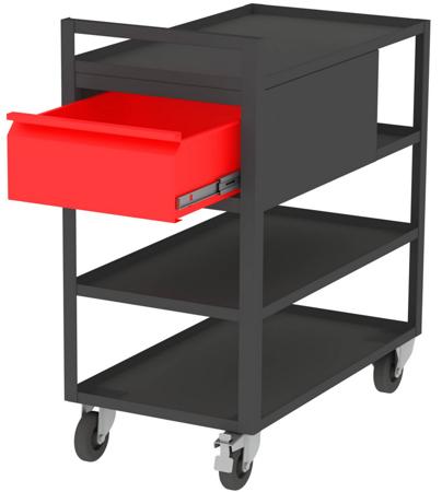 00150673 Wózek serwisowy, 2 półki, 1 szuflada (wymiary: 925x825x455 mm)