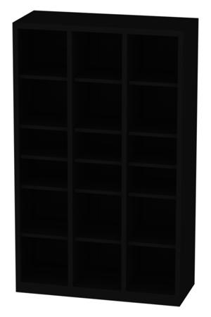 00150835 Regał nauczycielski, 3 segmenty, 15 półek (wymiary: 1950x1200x500 mm)